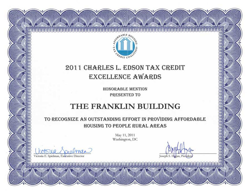 Charles L. Edson Tax Credit Excellence Award