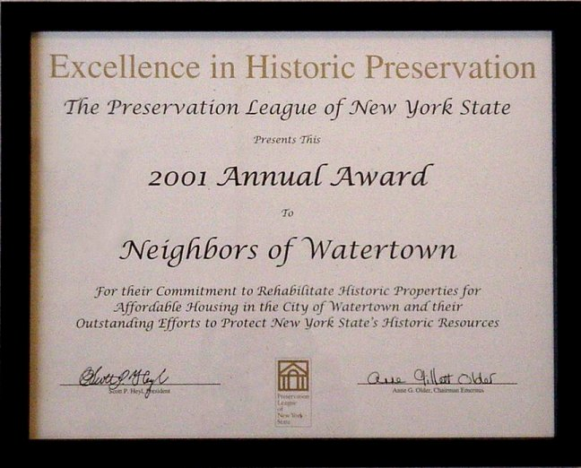 Excellence in Historic Preservation Award