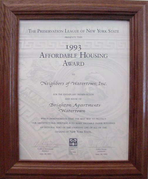 Affordable Housing Award